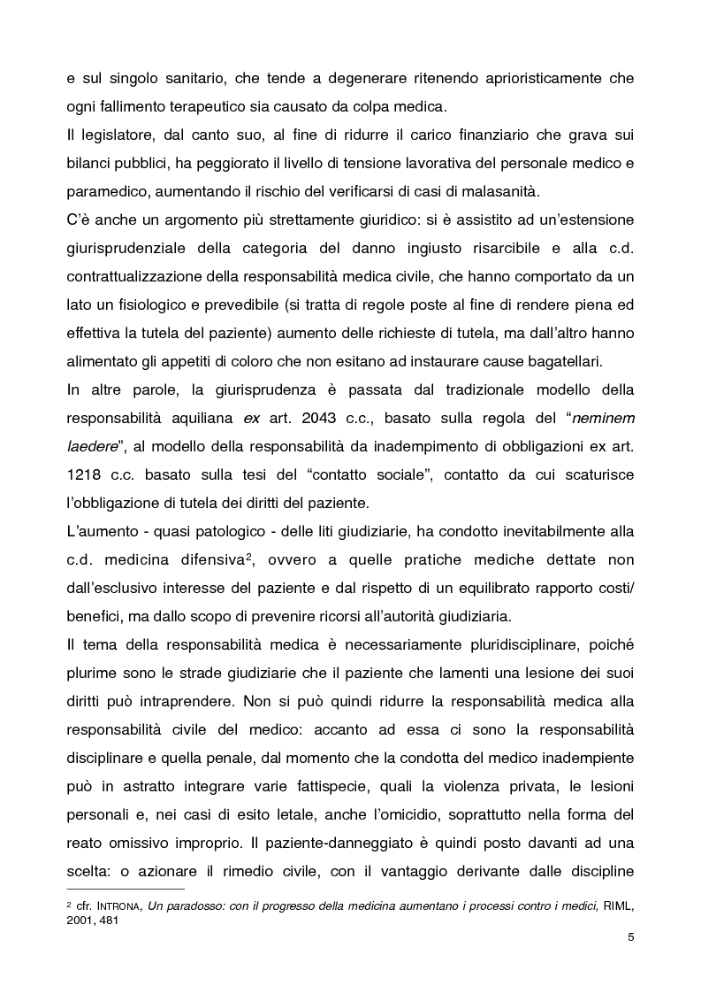 Anteprima della tesi: Consenso informato e responsabilità medica, Pagina 3