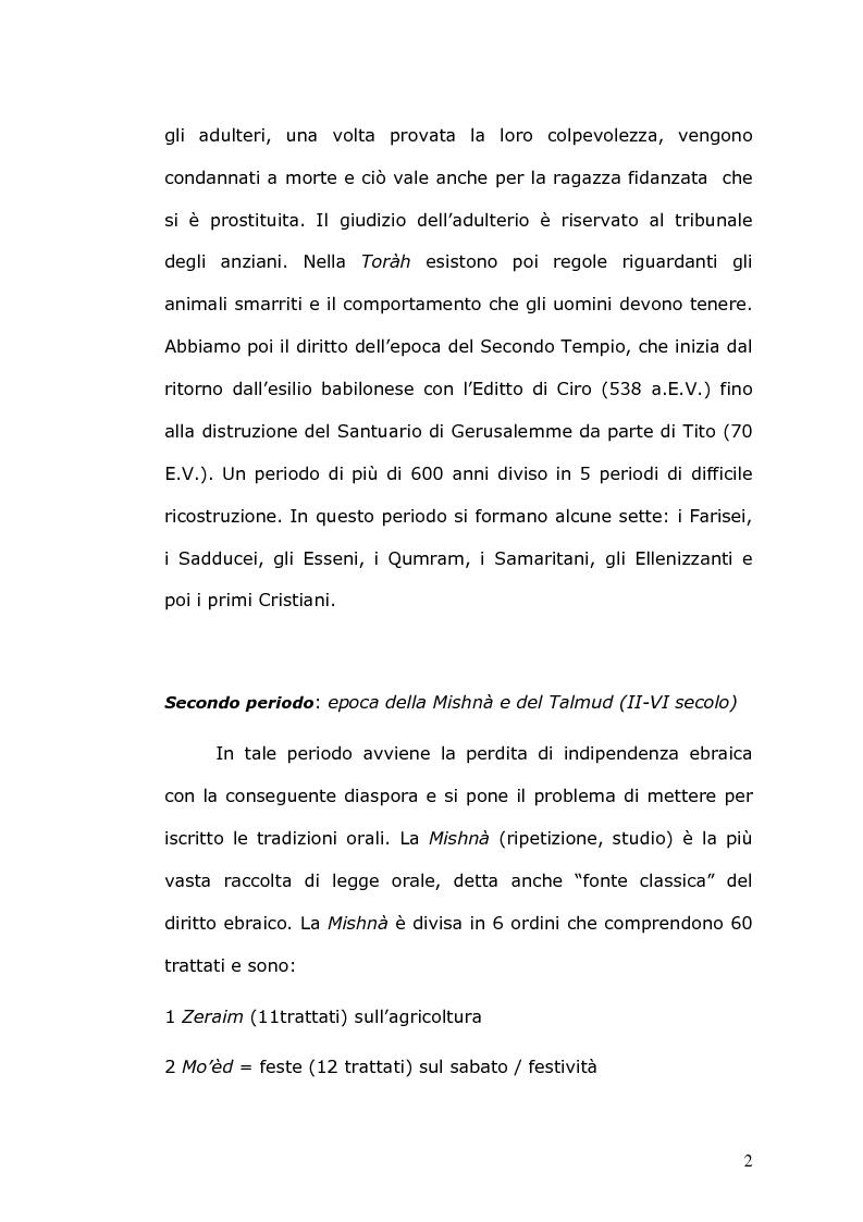 Anteprima della tesi: Rilevanza civile del matrimonio ebraico, Pagina 3