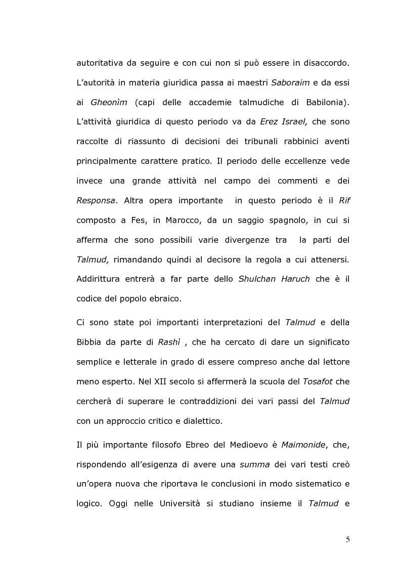 Anteprima della tesi: Rilevanza civile del matrimonio ebraico, Pagina 6