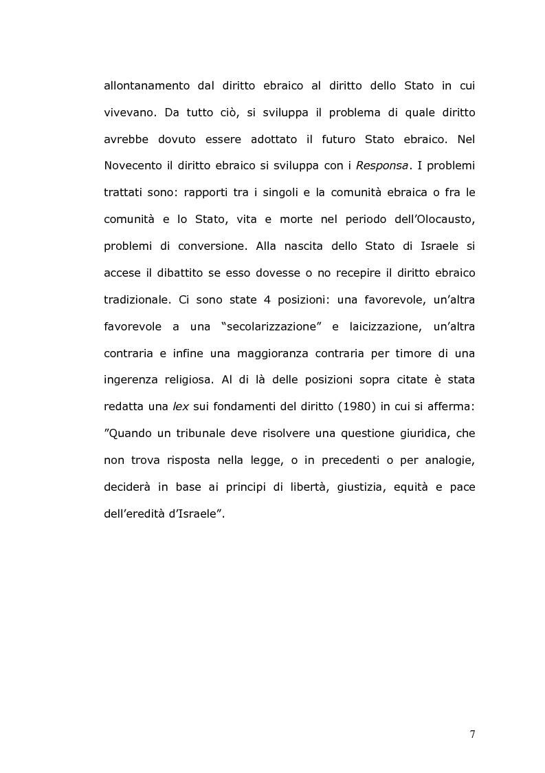 Anteprima della tesi: Rilevanza civile del matrimonio ebraico, Pagina 8
