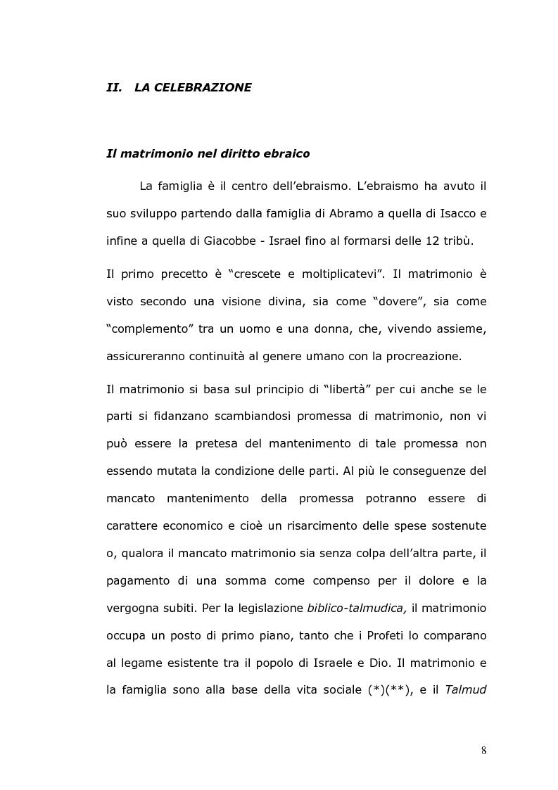Anteprima della tesi: Rilevanza civile del matrimonio ebraico, Pagina 9