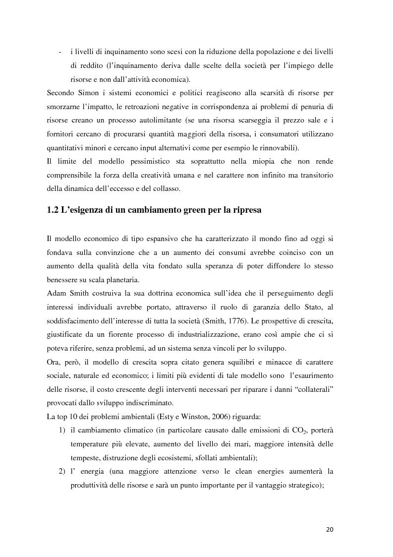 Anteprima della tesi: Il green marketing come leva del vantaggio competitivo nella green economy: il caso Palazzetti Lelio S.p.A., Pagina 13