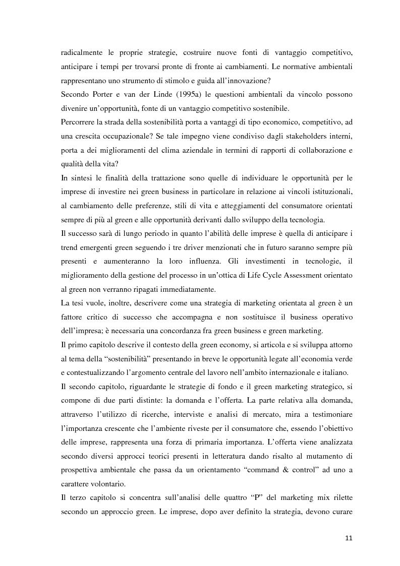 Anteprima della tesi: Il green marketing come leva del vantaggio competitivo nella green economy: il caso Palazzetti Lelio S.p.A., Pagina 4