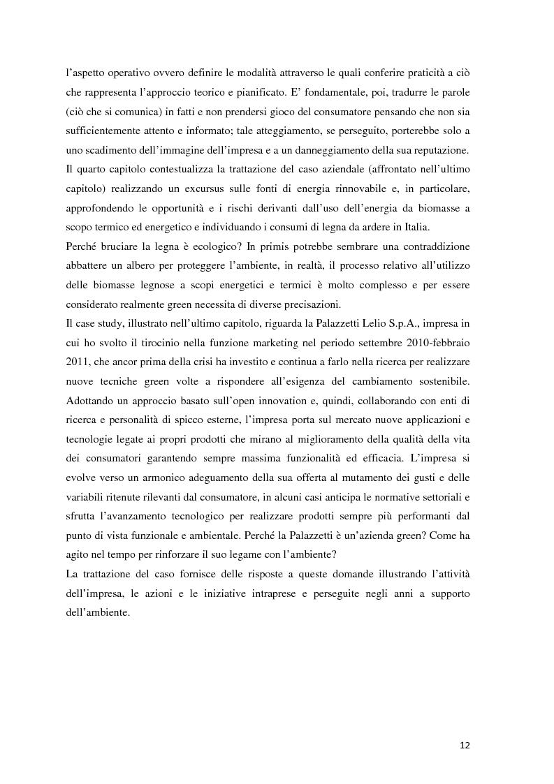 Anteprima della tesi: Il green marketing come leva del vantaggio competitivo nella green economy: il caso Palazzetti Lelio S.p.A., Pagina 5