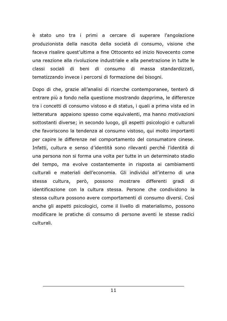 Anteprima della tesi: Consumo vistoso e di status nella ''nuova'' Cina urbana: ricerca ed osservazione nello Jiangsu, Pagina 8