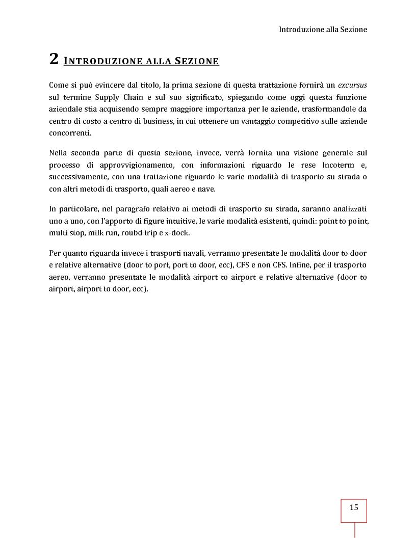 Anteprima della tesi: Performance Management applicato ad una Supply Chain: il caso CNH Italia Spa, Pagina 2