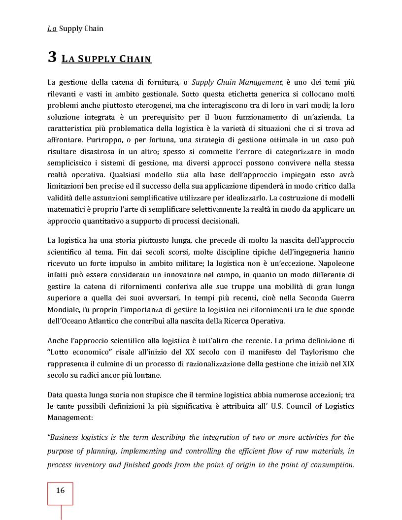 Anteprima della tesi: Performance Management applicato ad una Supply Chain: il caso CNH Italia Spa, Pagina 3