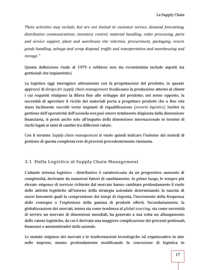 Anteprima della tesi: Performance Management applicato ad una Supply Chain: il caso CNH Italia Spa, Pagina 4