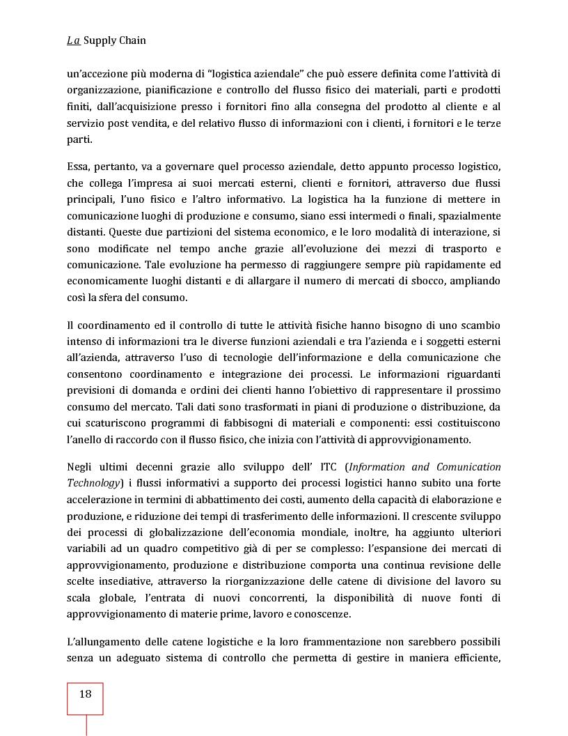 Anteprima della tesi: Performance Management applicato ad una Supply Chain: il caso CNH Italia Spa, Pagina 5