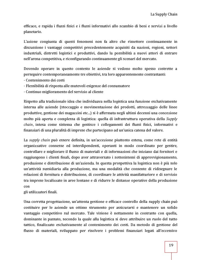 Anteprima della tesi: Performance Management applicato ad una Supply Chain: il caso CNH Italia Spa, Pagina 6