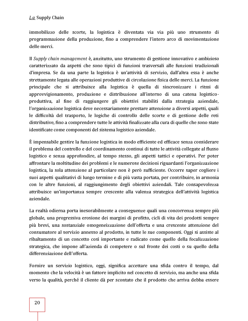 Anteprima della tesi: Performance Management applicato ad una Supply Chain: il caso CNH Italia Spa, Pagina 7