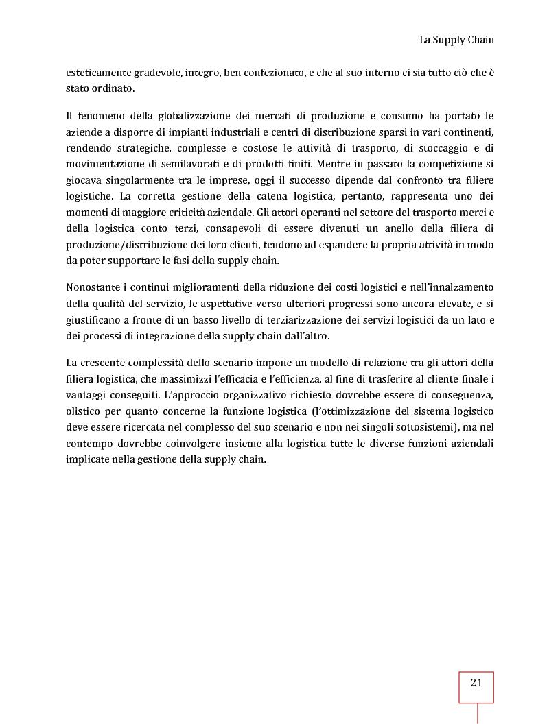 Anteprima della tesi: Performance Management applicato ad una Supply Chain: il caso CNH Italia Spa, Pagina 8