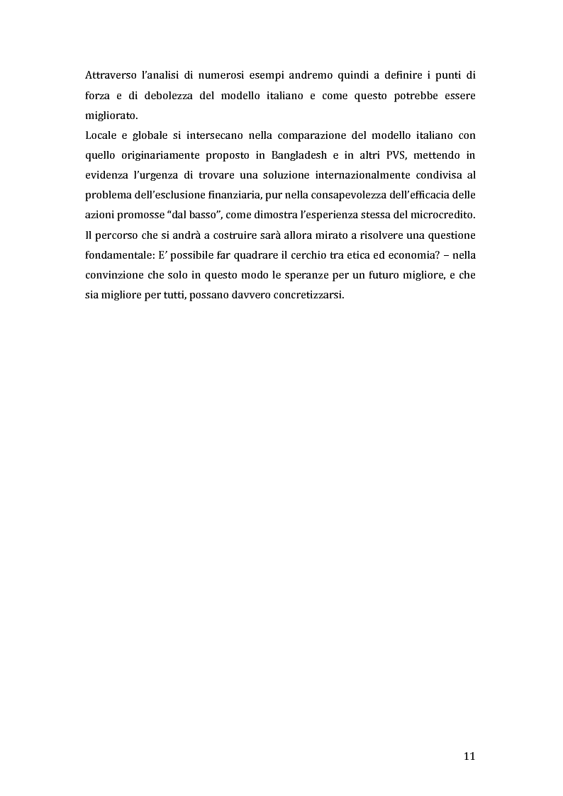 Anteprima della tesi: Green microfinance: microcredito come investimento per iniziative sostenibili, Pagina 10