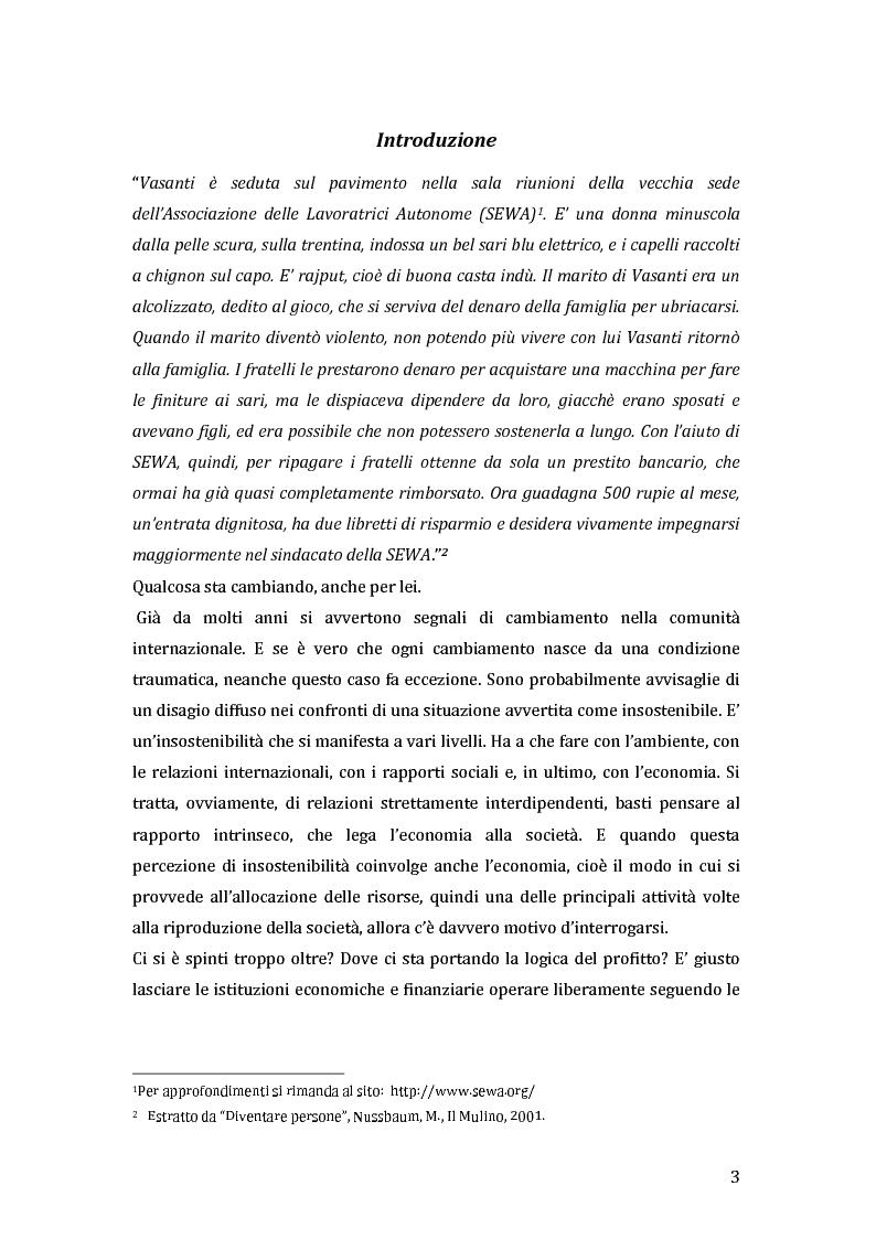 Anteprima della tesi: Green microfinance: microcredito come investimento per iniziative sostenibili, Pagina 2