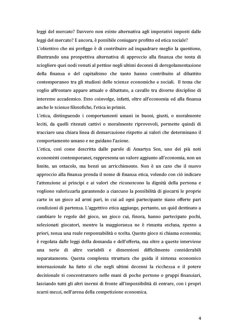 Anteprima della tesi: Green microfinance: microcredito come investimento per iniziative sostenibili, Pagina 3