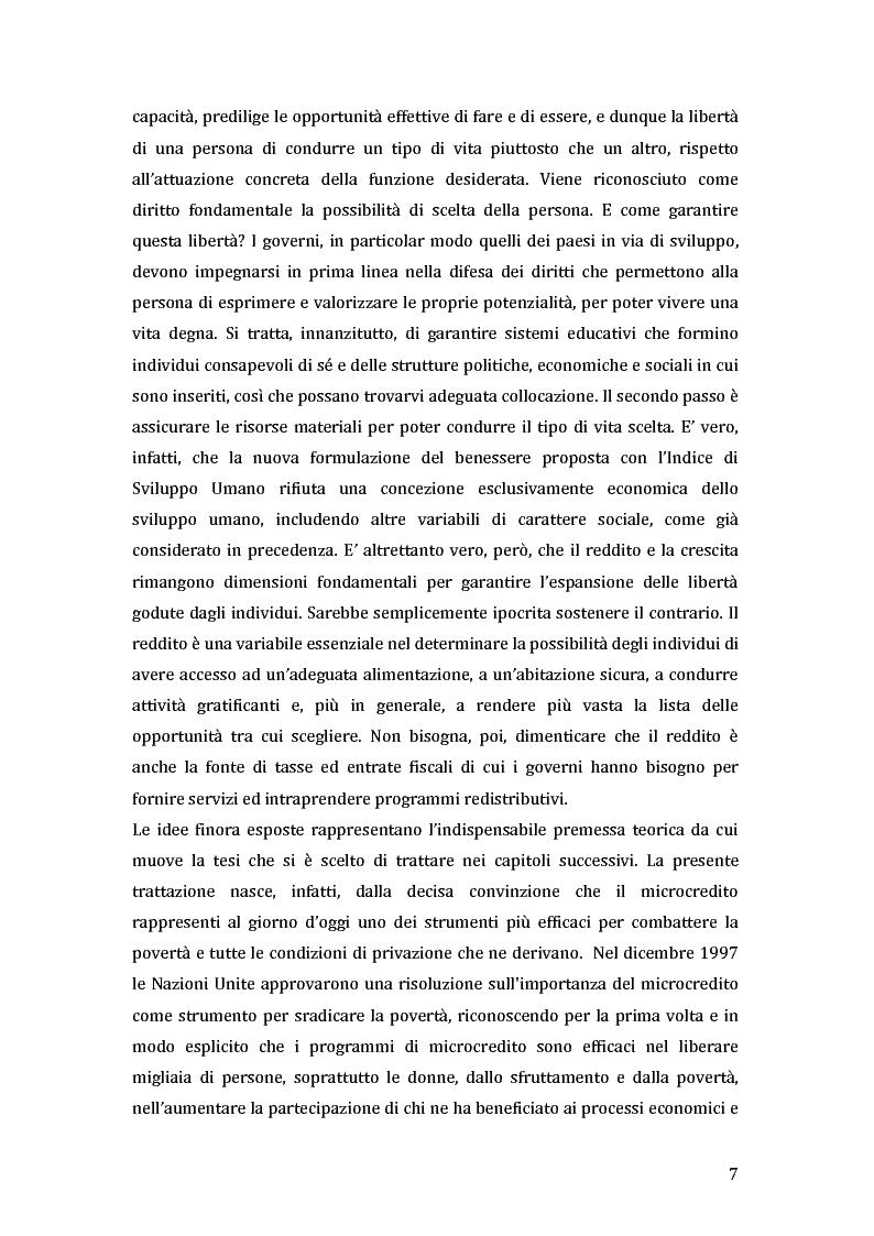 Anteprima della tesi: Green microfinance: microcredito come investimento per iniziative sostenibili, Pagina 6