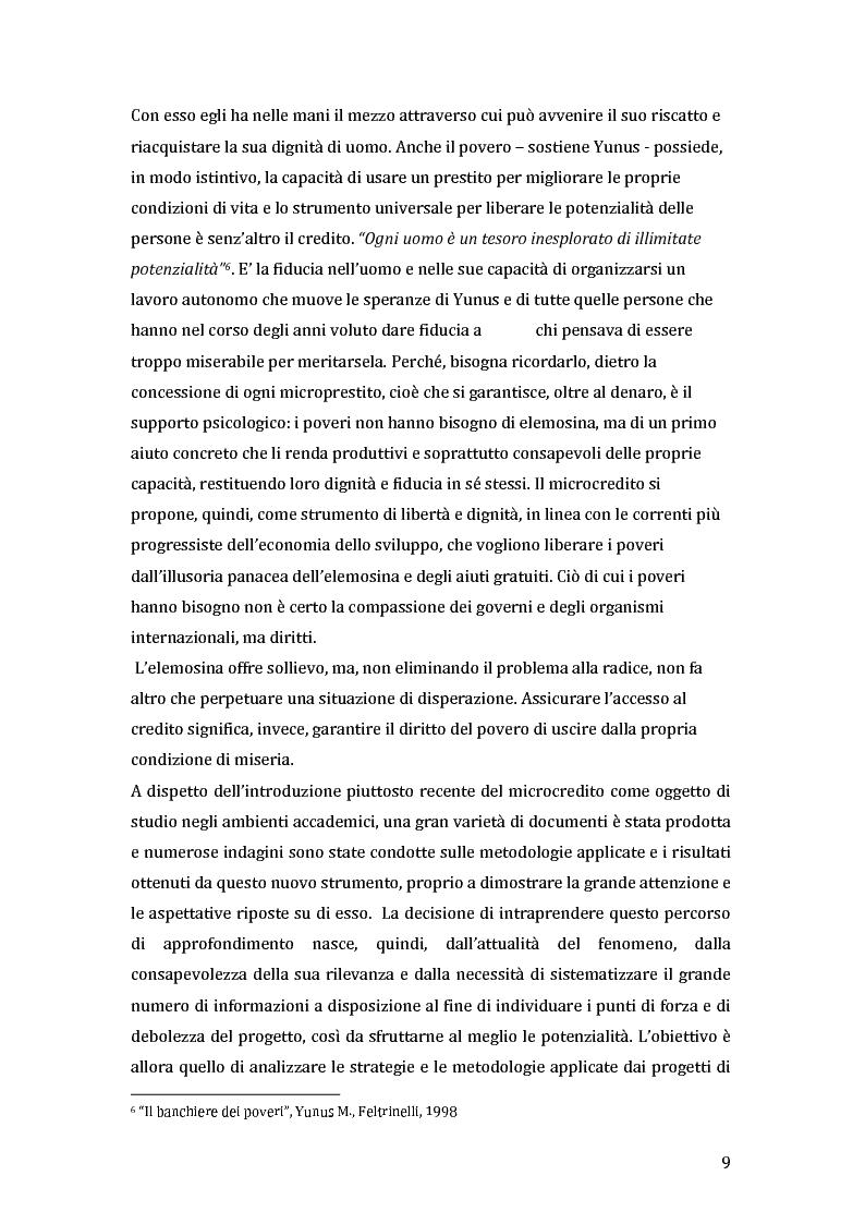 Anteprima della tesi: Green microfinance: microcredito come investimento per iniziative sostenibili, Pagina 8