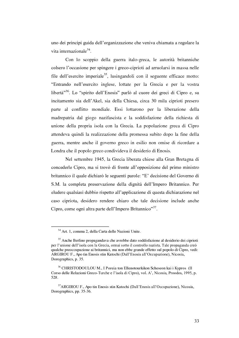 Estratto dalla tesi: La questione cipriota nel contesto delle Nazioni Unite