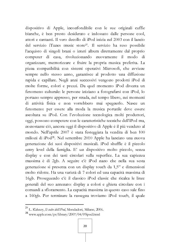 Anteprima della tesi: Il potere dei grandi miti del consumo. Marche e prodotti di culto sotto il riflettore, Pagina 6