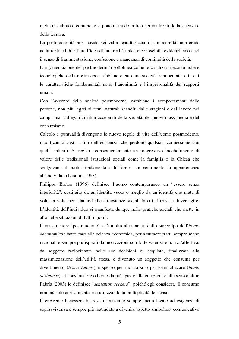 Anteprima della tesi: Il ruolo delle emozioni in pubblicità: analisi del caso aziendale CheBanca!, Pagina 6