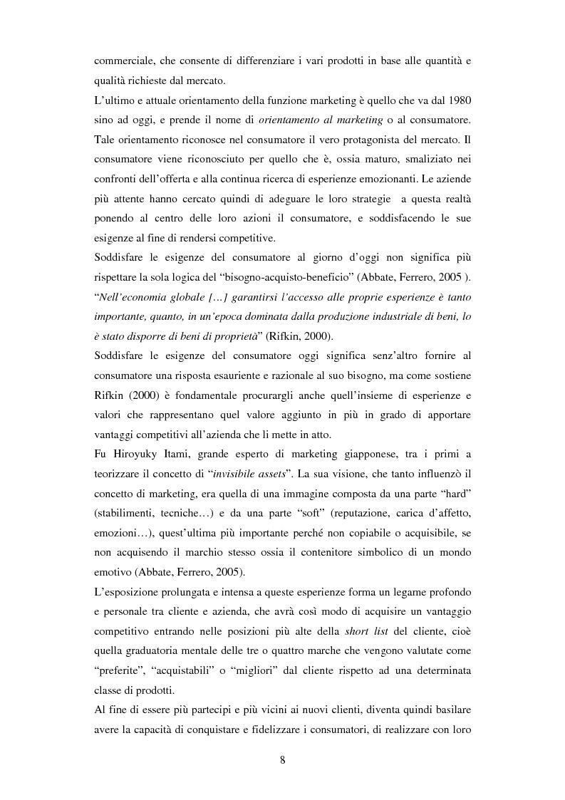 Anteprima della tesi: Il ruolo delle emozioni in pubblicità: analisi del caso aziendale CheBanca!, Pagina 9