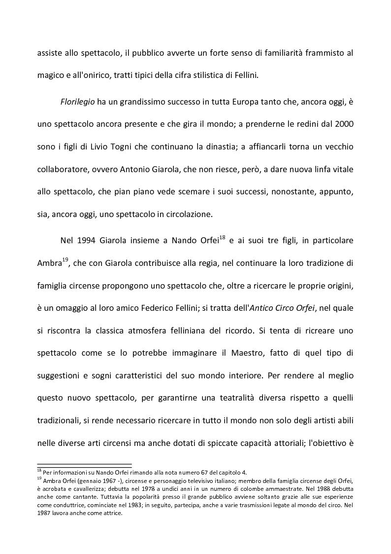 Anteprima della tesi: Fellini e il circo. Analisi di una passione, Pagina 10