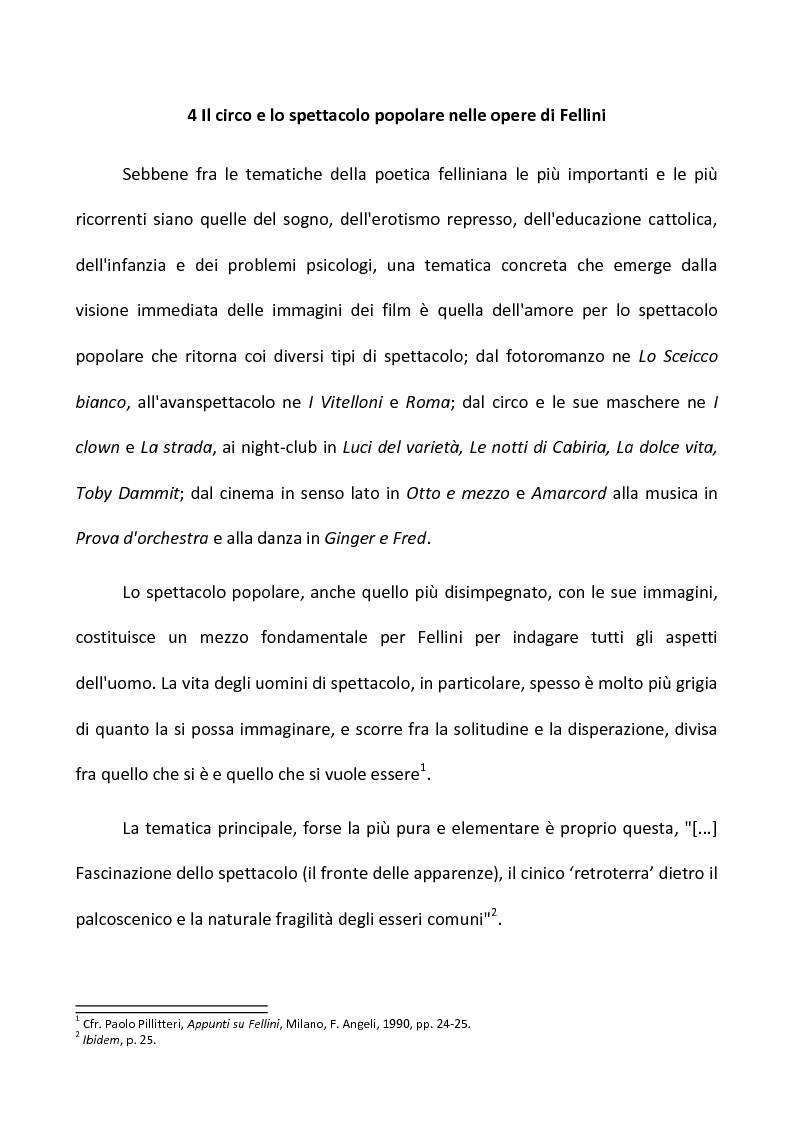 Anteprima della tesi: Fellini e il circo. Analisi di una passione, Pagina 2
