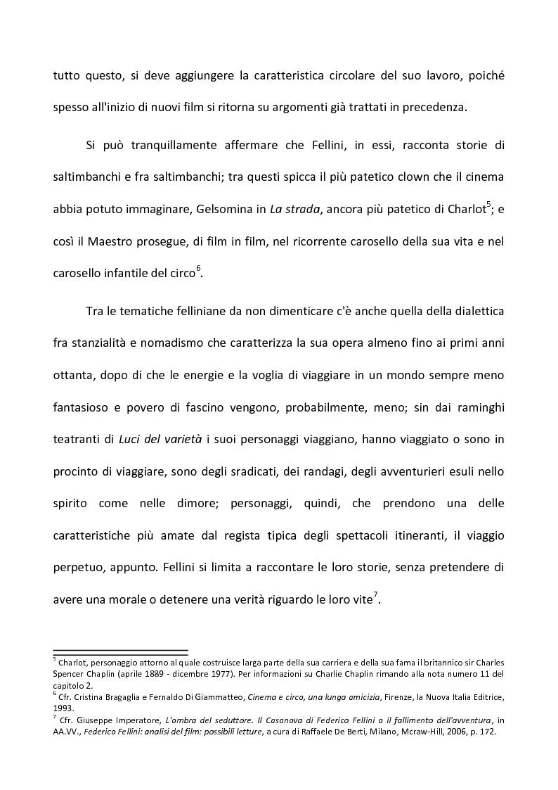 Anteprima della tesi: Fellini e il circo. Analisi di una passione, Pagina 4