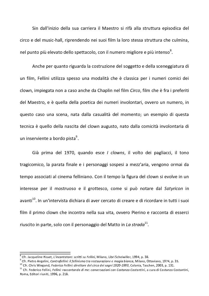 Anteprima della tesi: Fellini e il circo. Analisi di una passione, Pagina 5