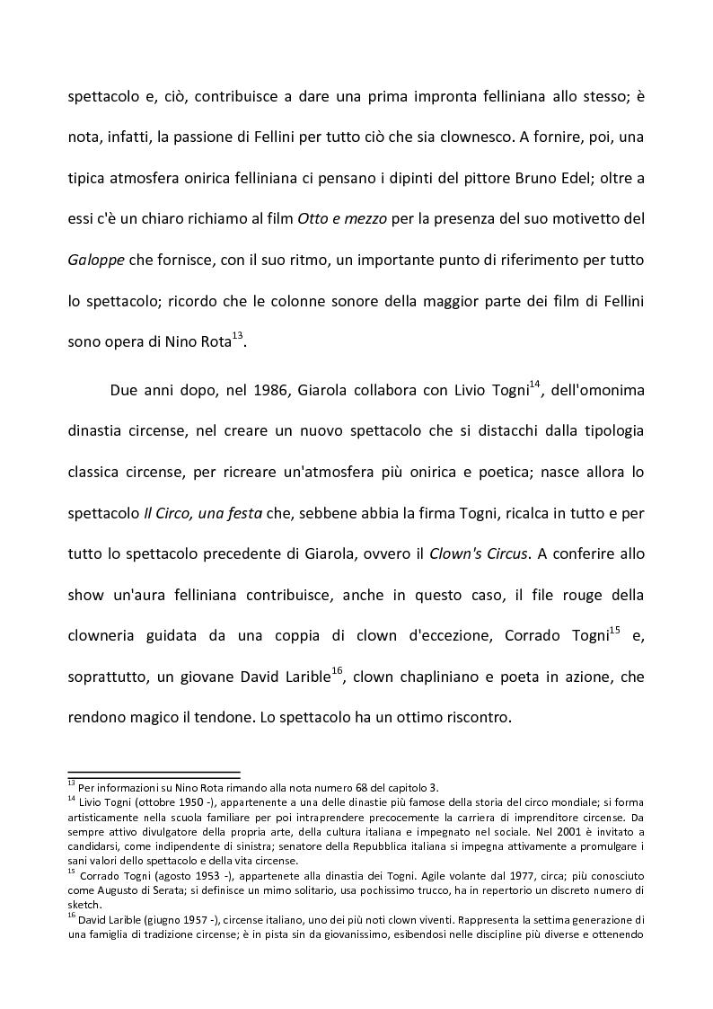 Anteprima della tesi: Fellini e il circo. Analisi di una passione, Pagina 8