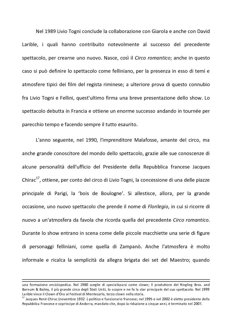 Anteprima della tesi: Fellini e il circo. Analisi di una passione, Pagina 9