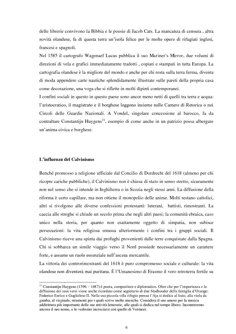 Anteprima della tesi: La musica nei dipinti di Vermeer: Variazioni sul tema del silenzio, Pagina 5