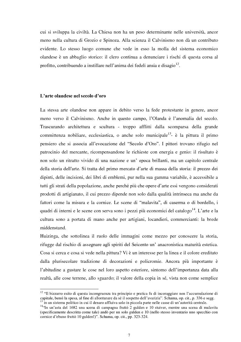 Anteprima della tesi: La musica nei dipinti di Vermeer: Variazioni sul tema del silenzio, Pagina 6