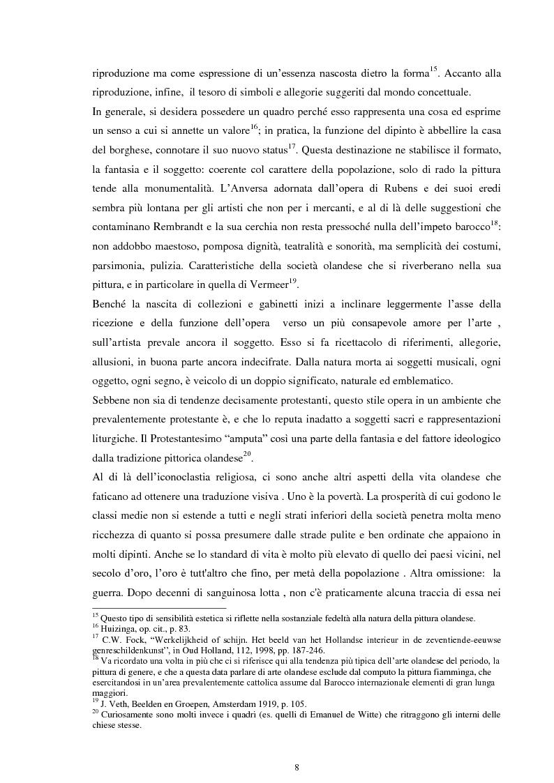 Anteprima della tesi: La musica nei dipinti di Vermeer: Variazioni sul tema del silenzio, Pagina 7