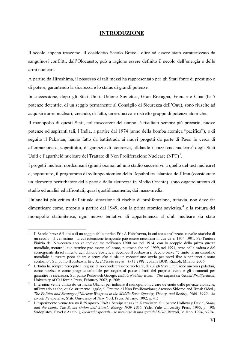 Anteprima della tesi: L'opzione nucleare nella geopolitica e nella strategia israeliana, Pagina 2