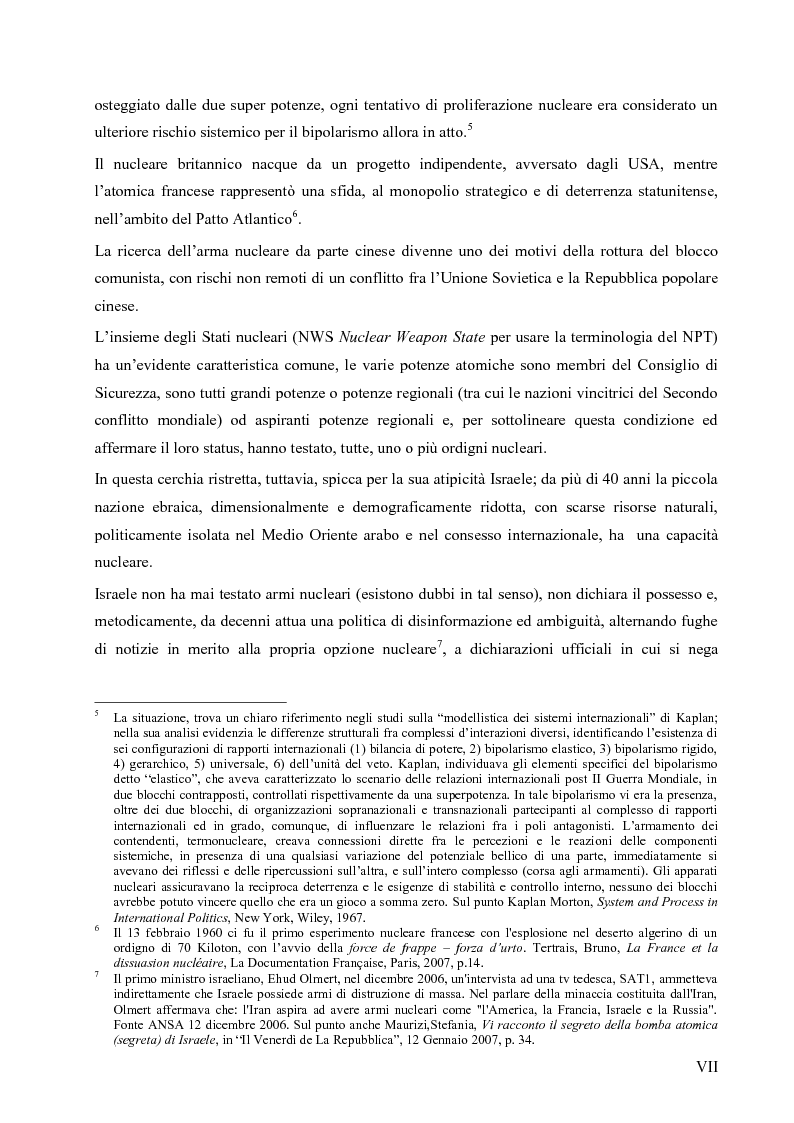 Anteprima della tesi: L'opzione nucleare nella geopolitica e nella strategia israeliana, Pagina 3