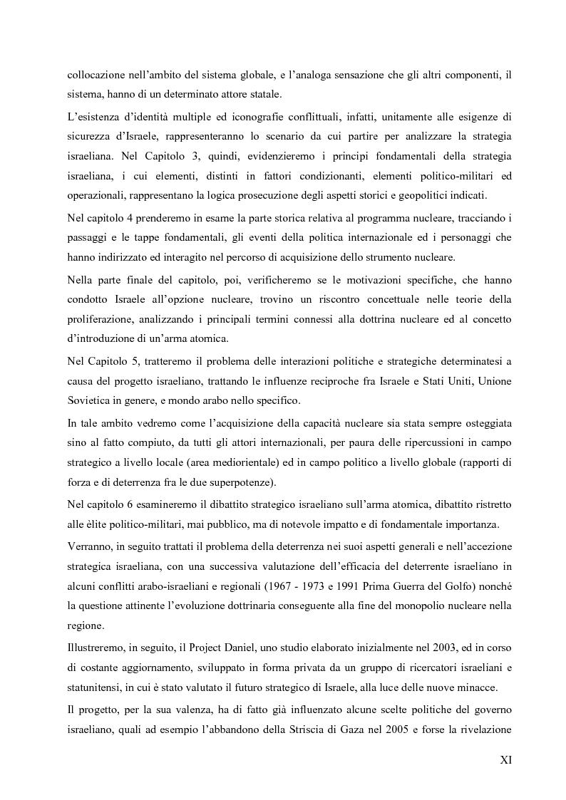 Anteprima della tesi: L'opzione nucleare nella geopolitica e nella strategia israeliana, Pagina 7