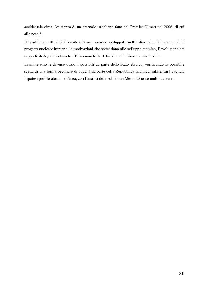 Anteprima della tesi: L'opzione nucleare nella geopolitica e nella strategia israeliana, Pagina 8