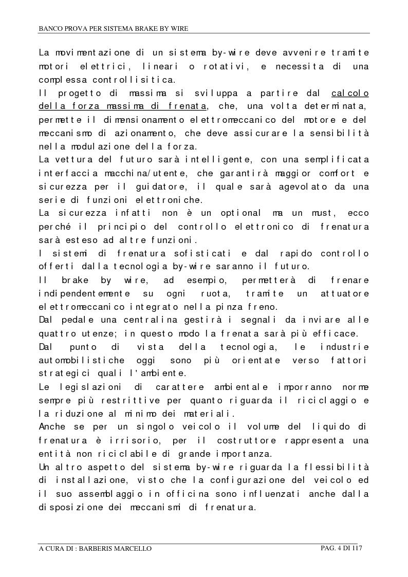 Anteprima della tesi: Banco prova per sistemi Brake by Wire, Pagina 3
