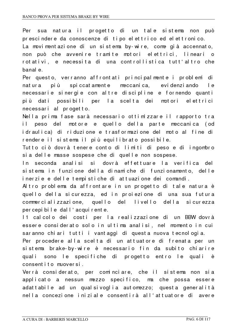 Anteprima della tesi: Banco prova per sistemi Brake by Wire, Pagina 5