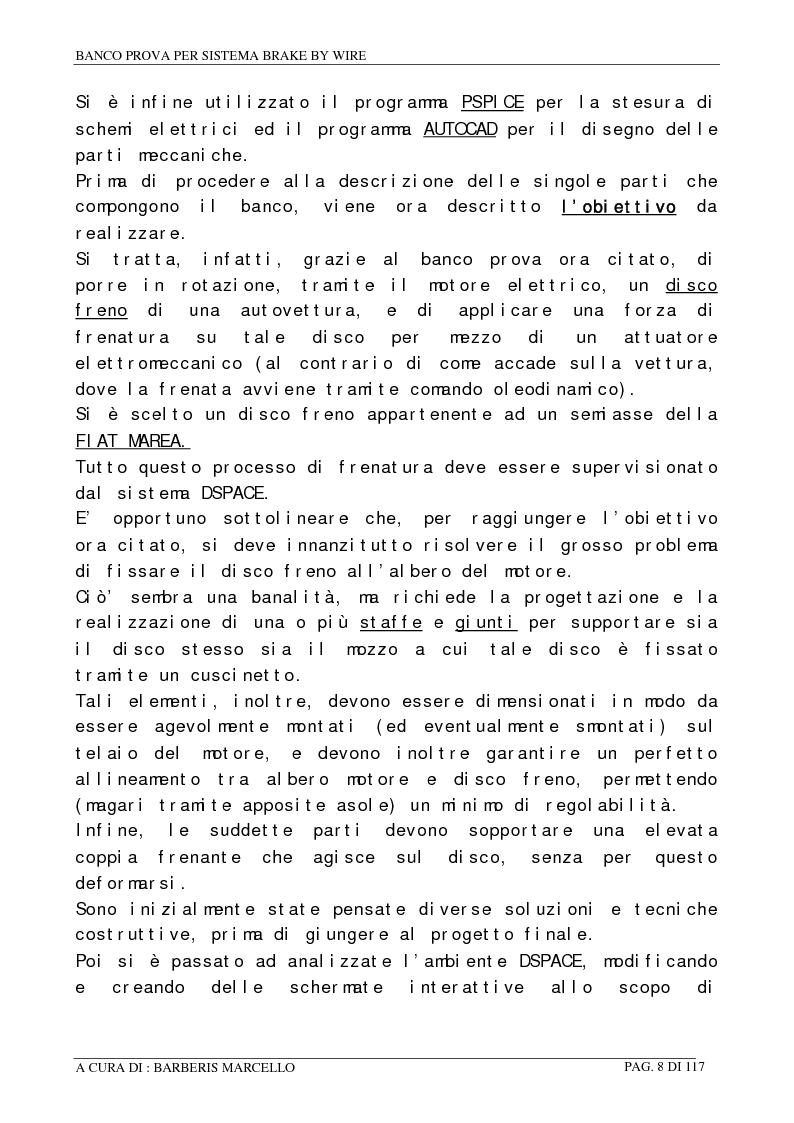 Anteprima della tesi: Banco prova per sistemi Brake by Wire, Pagina 7