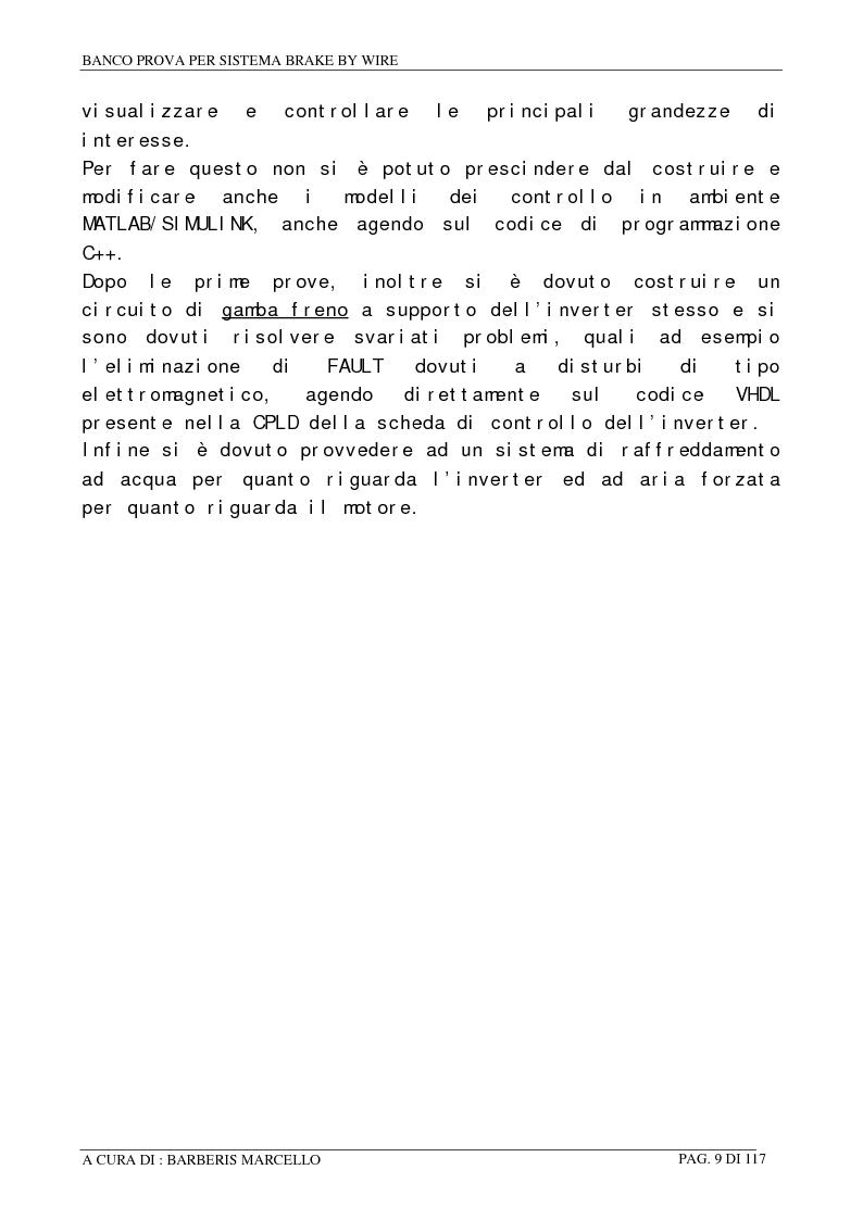 Anteprima della tesi: Banco prova per sistemi Brake by Wire, Pagina 8