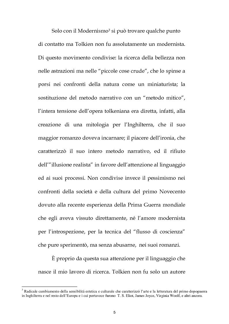 Anteprima della tesi: J.R.R. Tolkien: filologo e poeta tra antichità e '900, Pagina 4