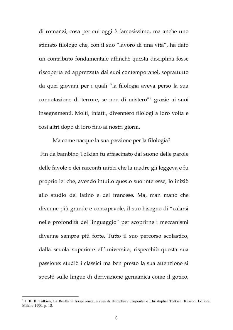 Anteprima della tesi: J.R.R. Tolkien: filologo e poeta tra antichità e '900, Pagina 5