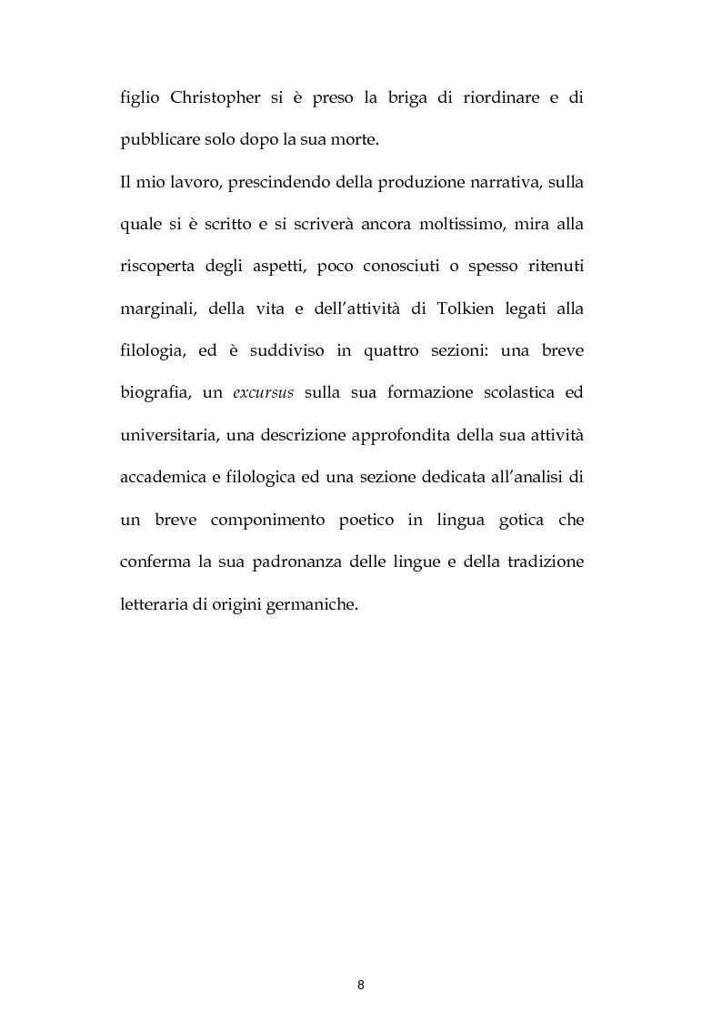 Anteprima della tesi: J.R.R. Tolkien: filologo e poeta tra antichità e '900, Pagina 7