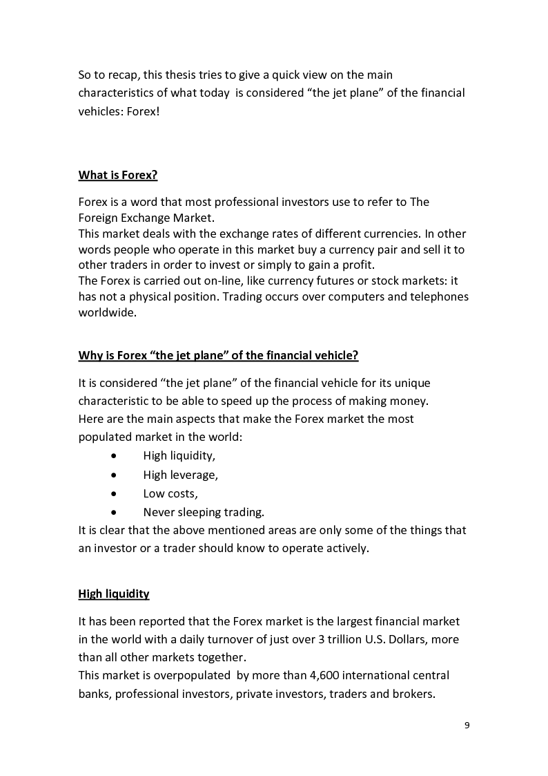 Anteprima della tesi: The Foreign Exchange Market and its features, Pagina 3