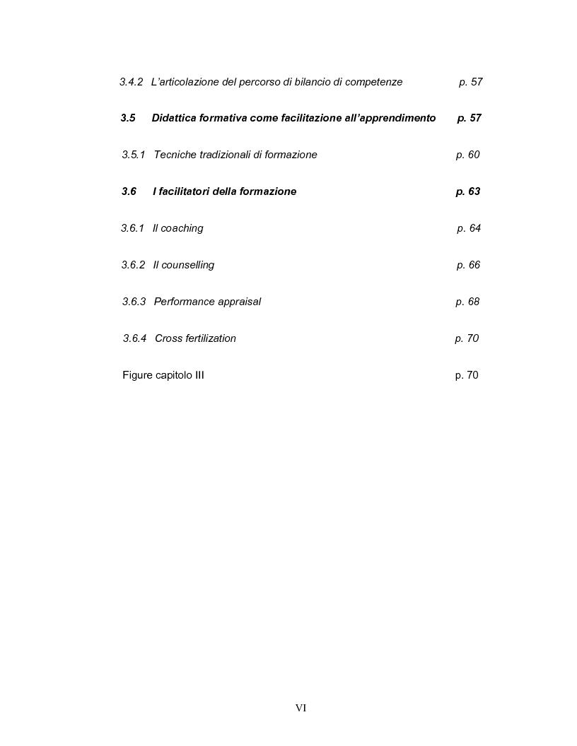 Indice della tesi: Coinvolgimento e partecipazione del personale nello sviluppo delle competenze: persone motivate ad alta professionalità come valore strategico per la creazione di know-how organizzativo, Pagina 4