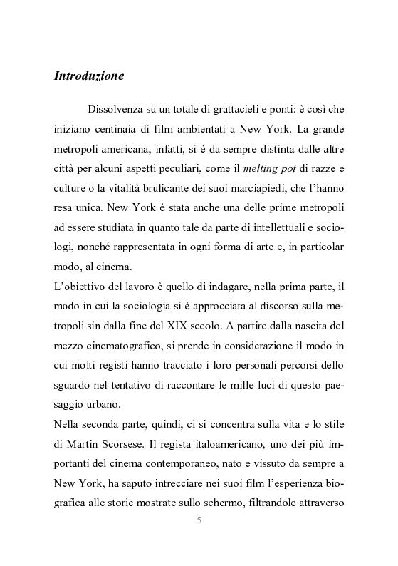 Anteprima della tesi: New York stories. La Grande Mela nei film di Scorsese., Pagina 2