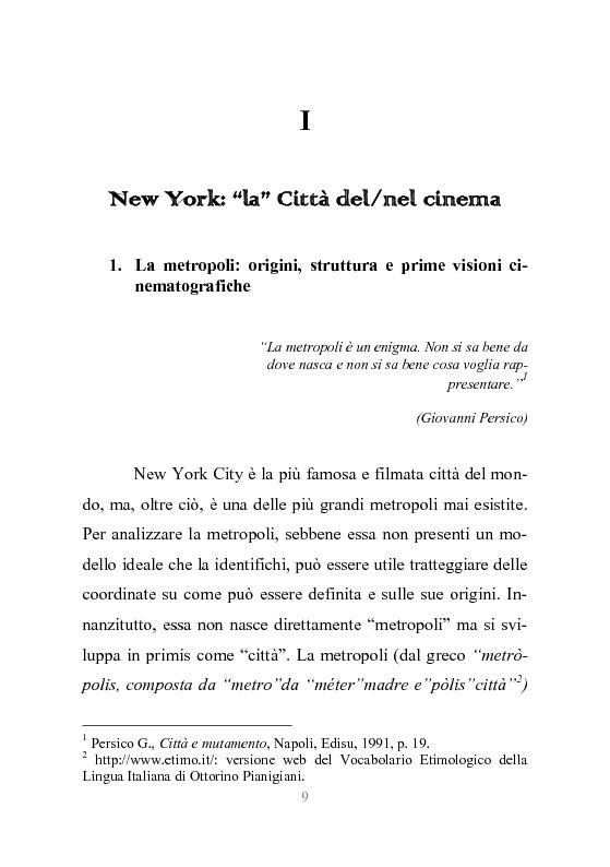 Anteprima della tesi: New York stories. La Grande Mela nei film di Scorsese., Pagina 6