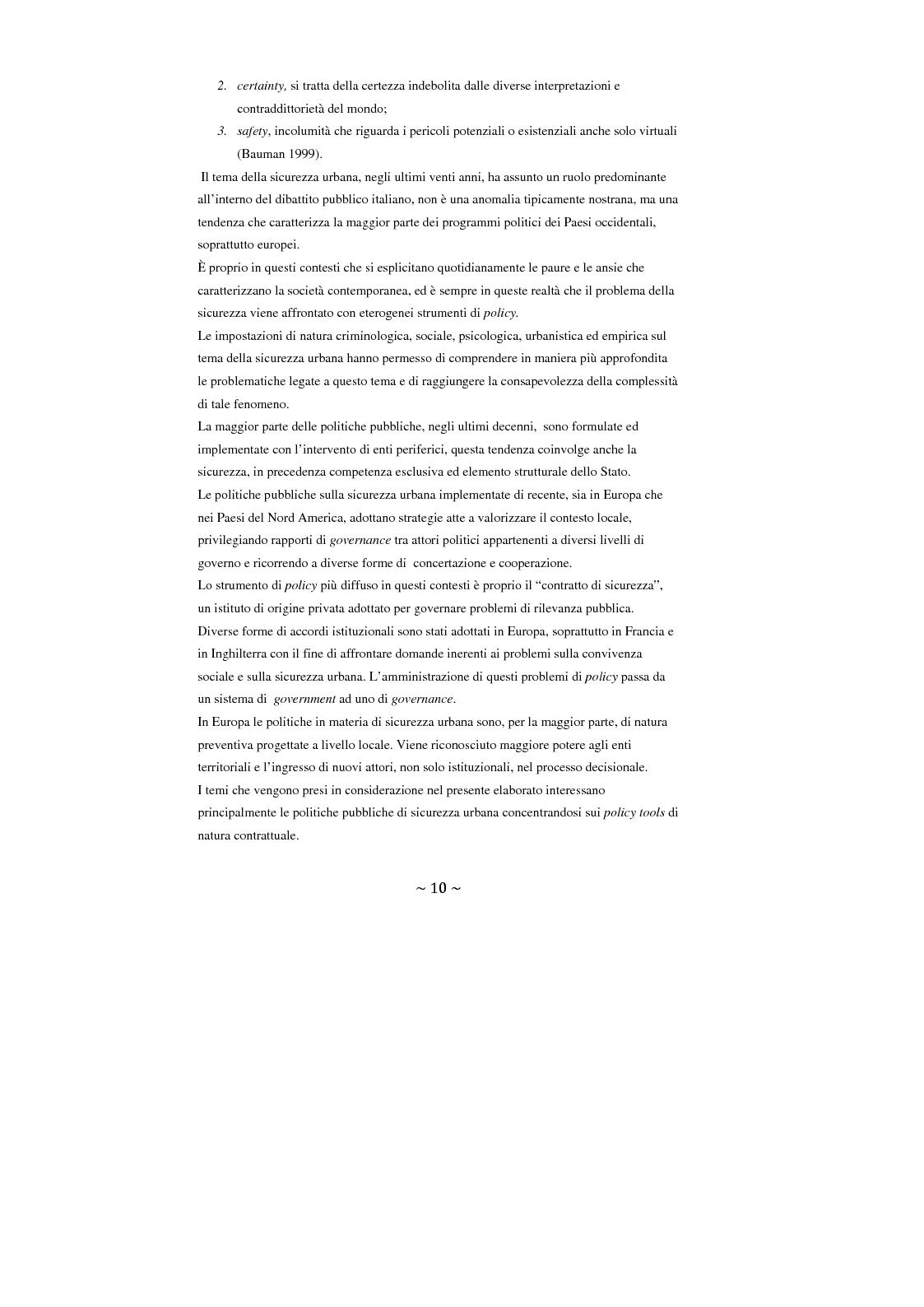 Anteprima della tesi: Contrattualizzare la sicurezza urbana, Pagina 3